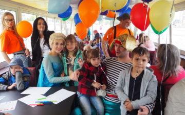 Путешествие на теплоходе по Москве-реке для детей с ограниченными возможностями здоровья и их родителей